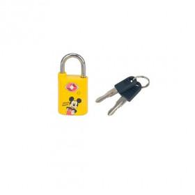 cadeado-disney-mickey-mouse-TSA-com-chave-amarelo