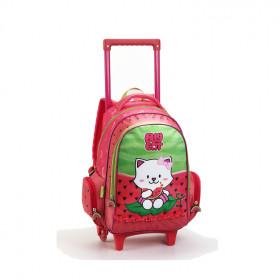 mochila-denlex-lilly-cat-dl0600-com-rodas-vermelha