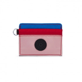 porta-cartão-kipling-cardy-rosa