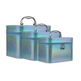 kit-de-maletas-de-maquiagem-holográfica-azul