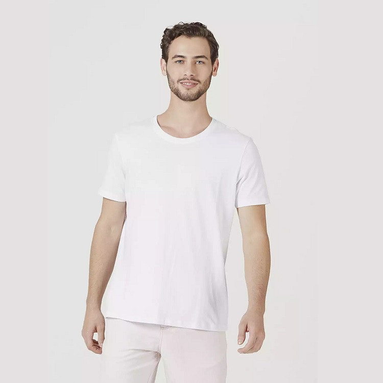 camiseta-hering-masculina-básica-mangas-curtas-world-tamanho-g-branca