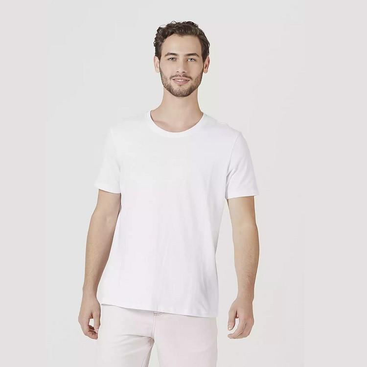 camiseta-hering-masculina-básica-mangas-curtas-world-tamanho-m-branca