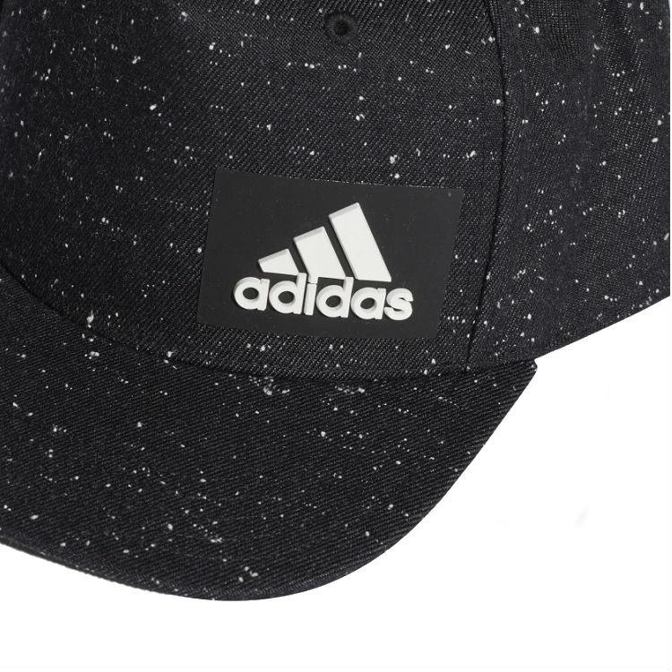 boné-adidas-aba-reta-mélange-h90-preto-detalhe-logo
