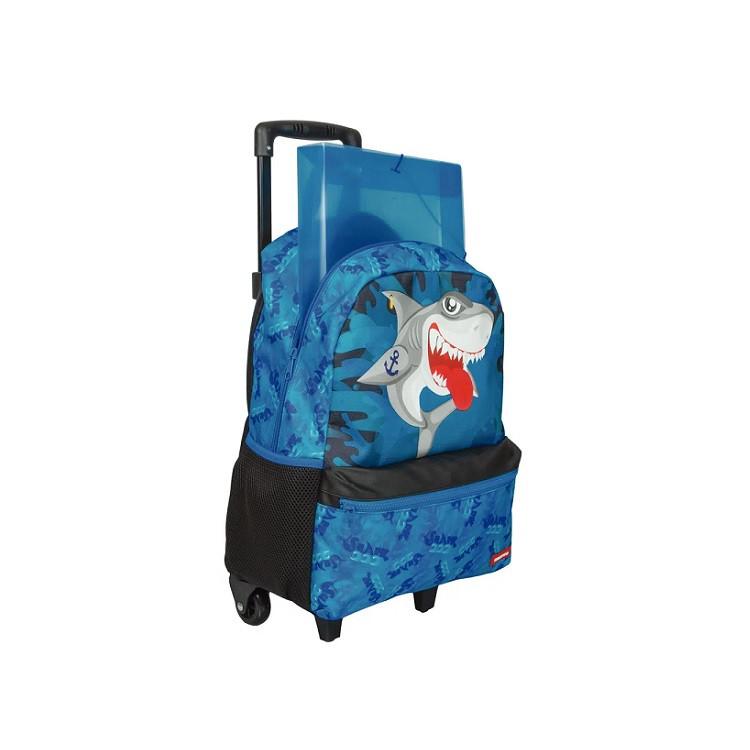mochila-sestini-tubarão-com-rodas-azul-aberta