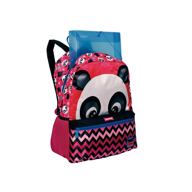 mochila-sestini-plus-panda-rosa-aberta