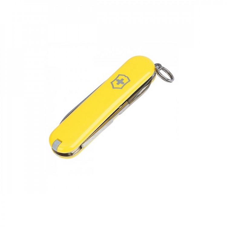 canivete-victorinox-classic-sd-7-funções-amarelo-fechado