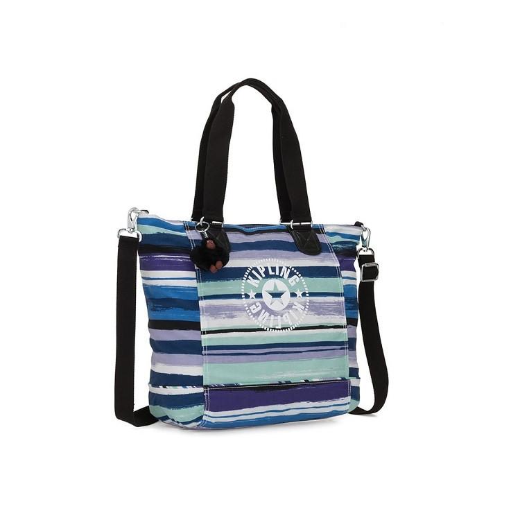 bolsa-de-ombro-kipling-new-shopper-c-azul-lateral