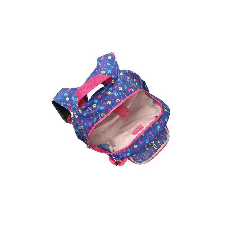 mochila-kipling-carmine-azul-detalhe-compartimentos