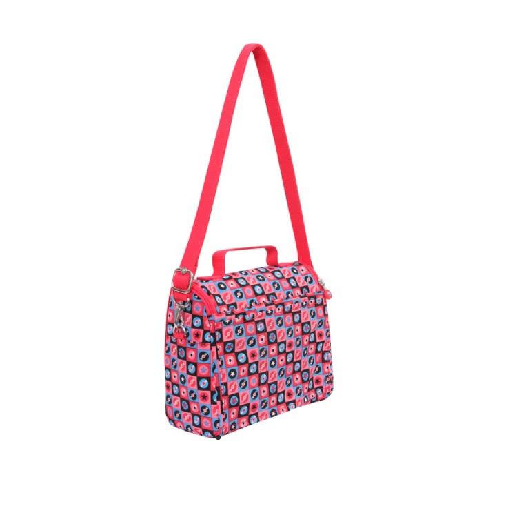 lancheira-kipling-kichirou-flex-rosa-traseira