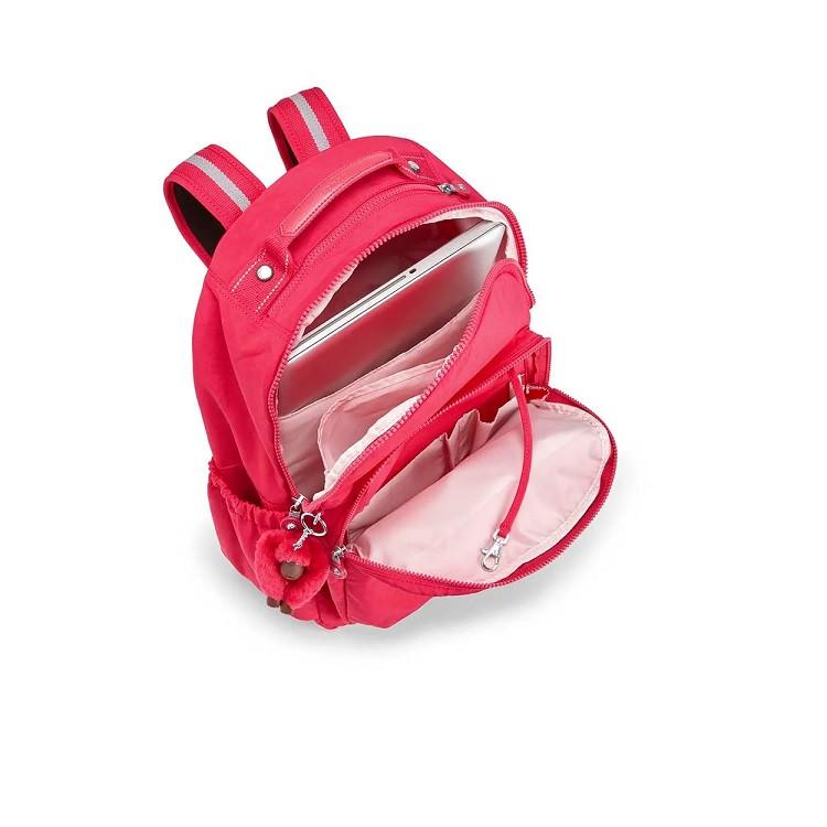 mochila-kipling-seoul-go-pink-detalhe-compartimentos