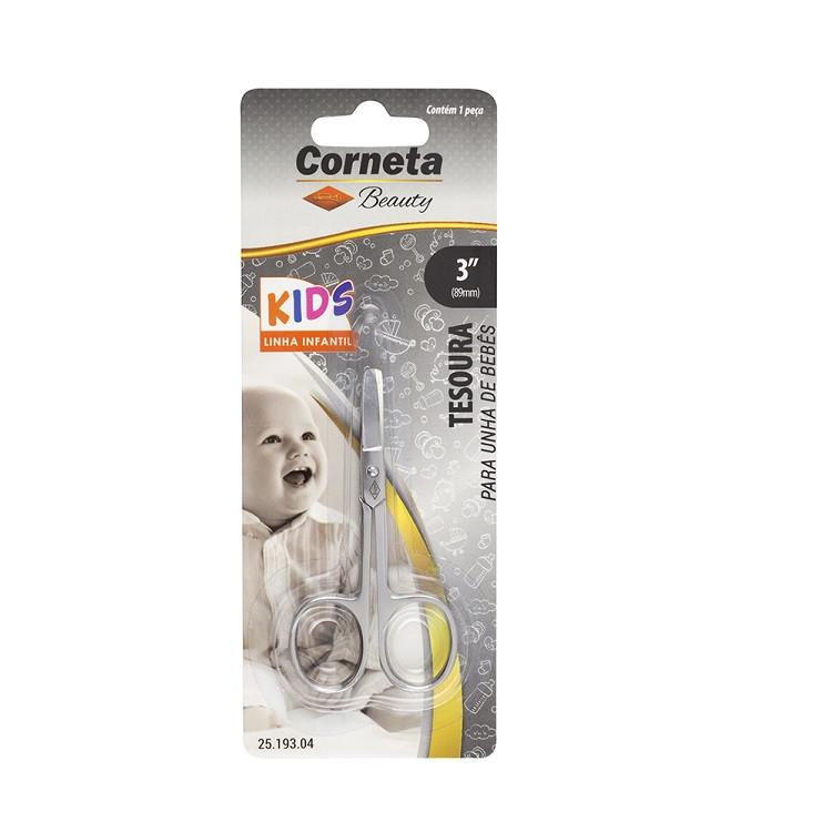 "tesoura-corneta-para-bebês-3,5""-prata-embalagem"