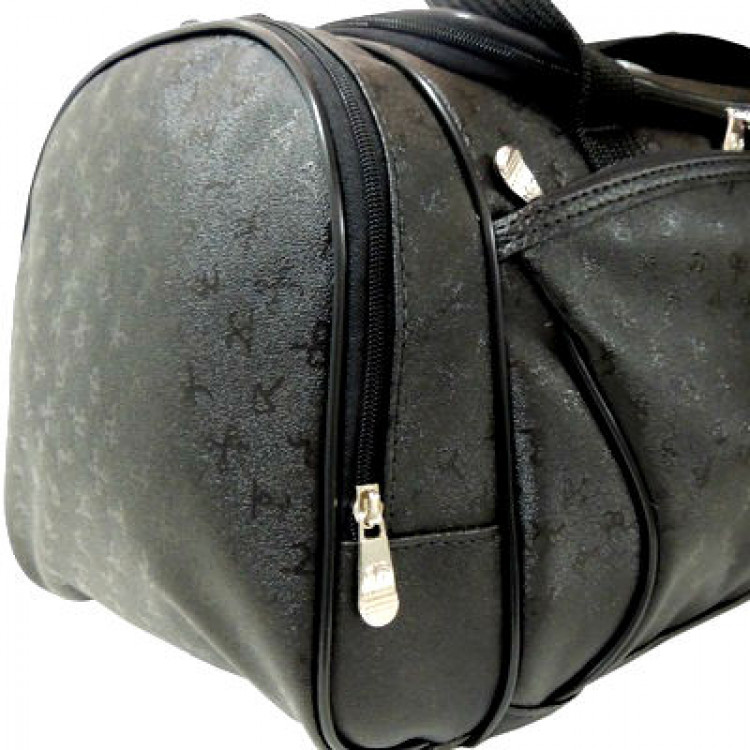 bolsa-de-viagem-primicia-graphis-luxor-preta-detalhe-bolso-lateral