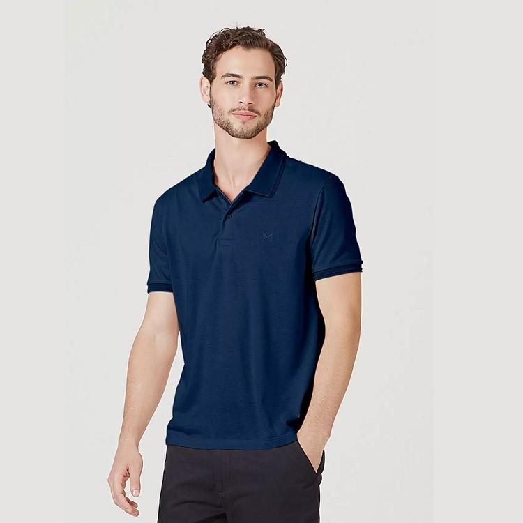 camisa-polo-básica-masculina-texturizada-xg-azul-marinho