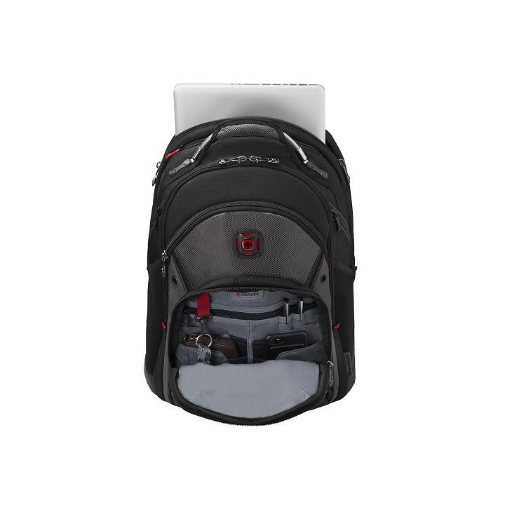 mochila-wenger-para-notebook-synergy-preto-cinza-detalhe-compartimento