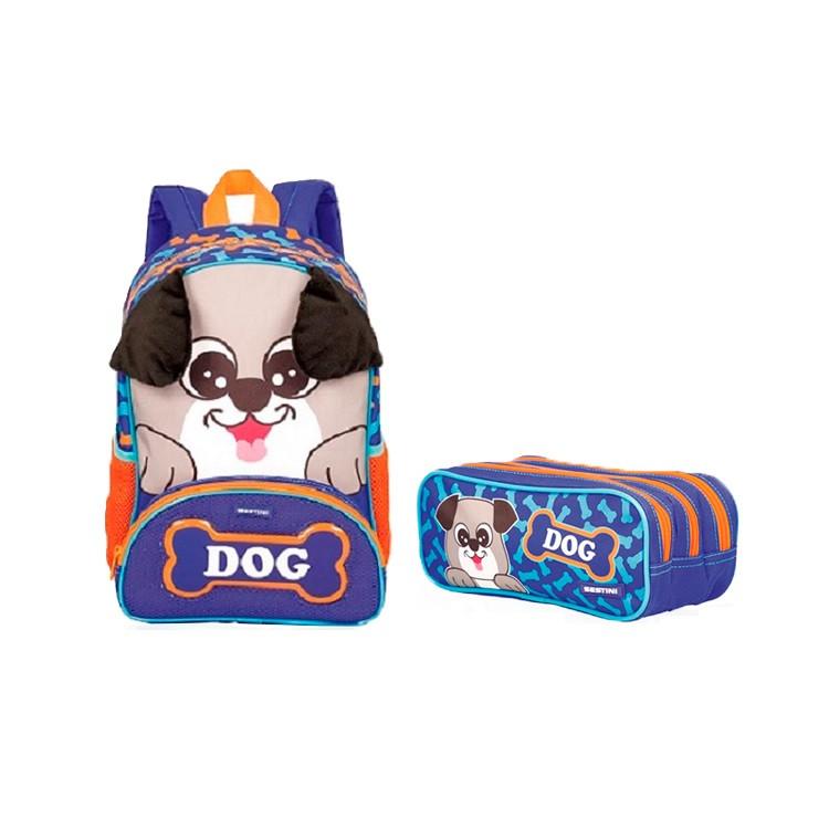 mochila-sestini-pets-x-dog-+-estojo-sestini-pets-x-dog-azul