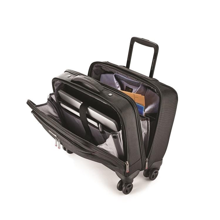 pasta-samsonite-para-notebook-com-rodas-xenon-III-preta-detalhe-compartimentos