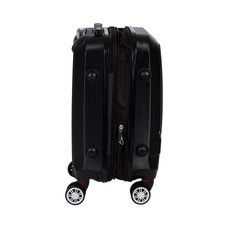 mala-travelux-arosa-preta-detalhe-expansor-e-pés-de-apoio