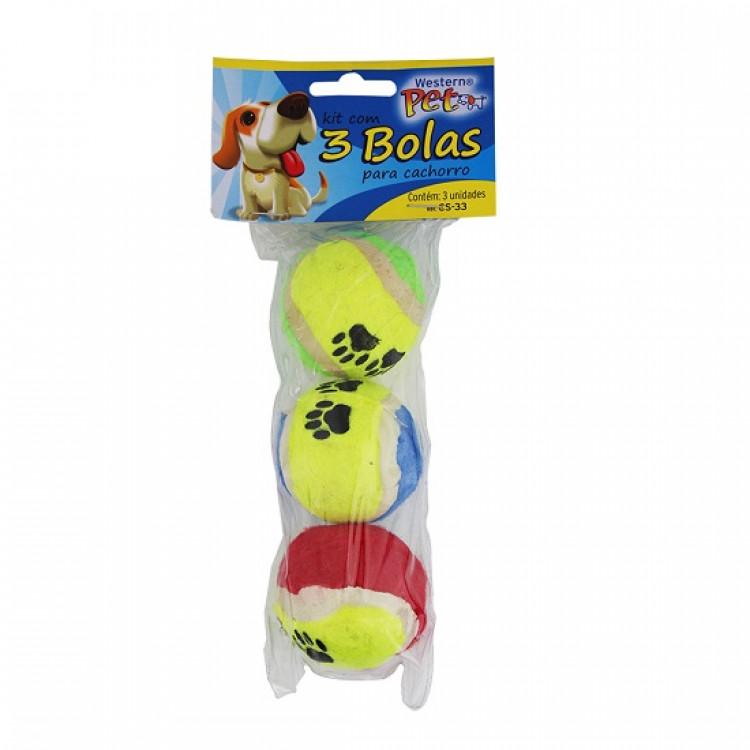 kit-com-3-bolas-para-cachorro-western-pet-amarela-embalagem