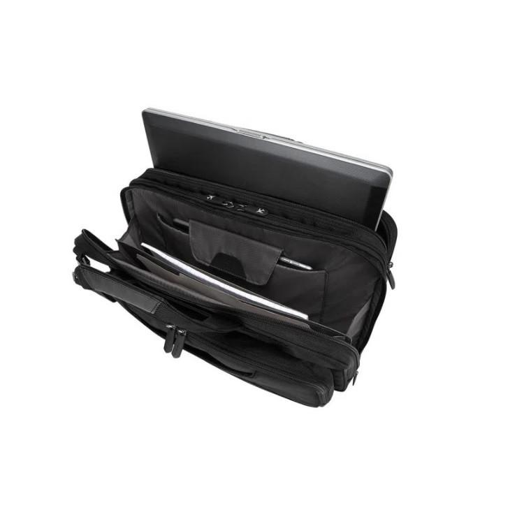 pasta-executiva-targus-corporate-traveler-preta-detalhe-compartimentos