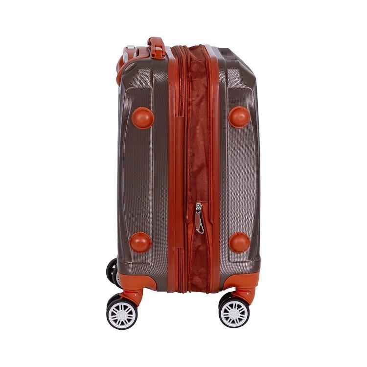 mala-travelux-engelberg-tamanho-p-caqui-detalhe-expansor-e-pés-de-apoio