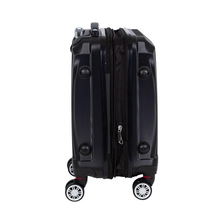 mala-travelux-engelberg-tamanho-p-preta-detalhe-expansor-e-pés-de-apoio