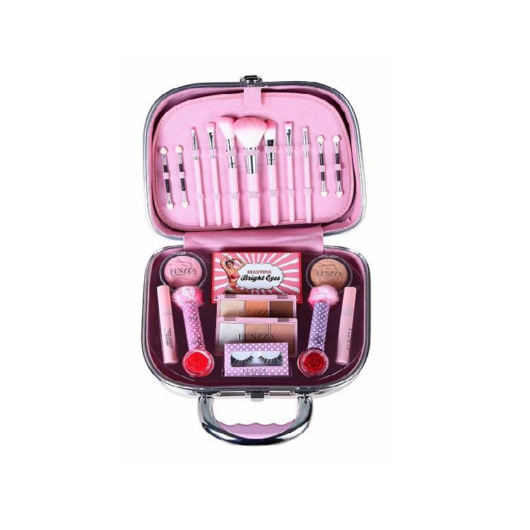 maleta-de-maquiagem-fenzza-pin-up-lettre-tamanho-g-rosa-claro-aberta
