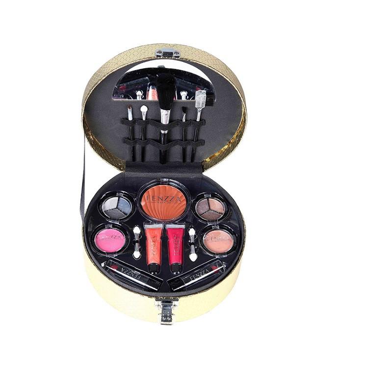 maleta-de-maquiagem-fenzza-chic-collection-dourado-aberta