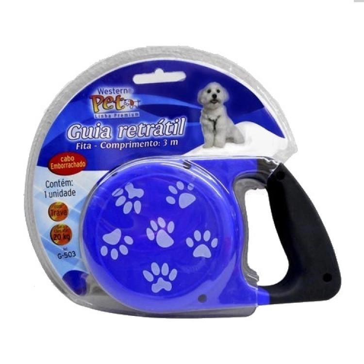 guia-retrátil-para-cães-até-20-kg-3-metros-western-pet-azul