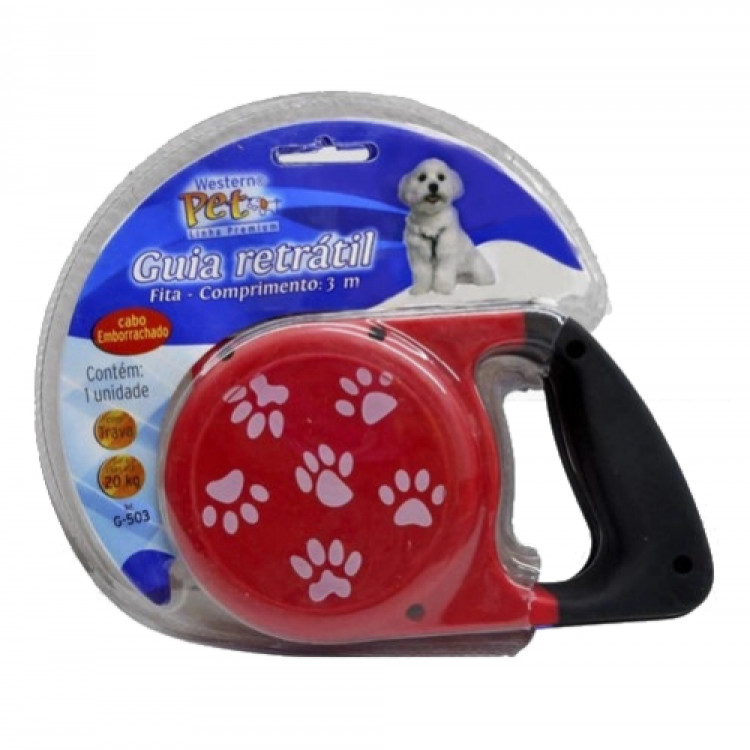 guia-retrátil-para-cães-até-20-kg-3-metros-western-pet-vermelha