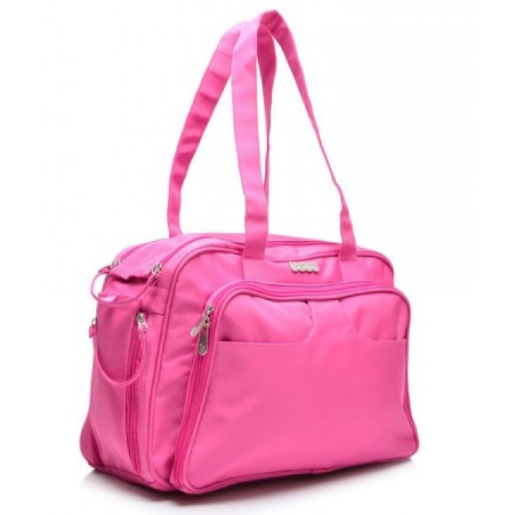 bolsa-fisher-price-diaper-bag-day-&-travel-rosa-detalhe-bolso-lateral