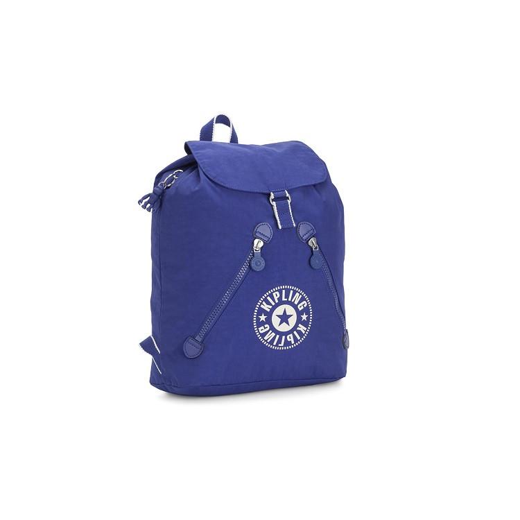 mochila-kipling-fundamental-azul-lateral