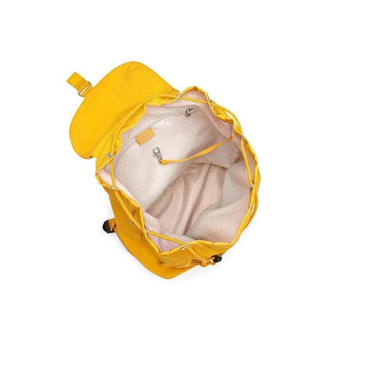mochila-kipling-fundamental-amarela-aberta