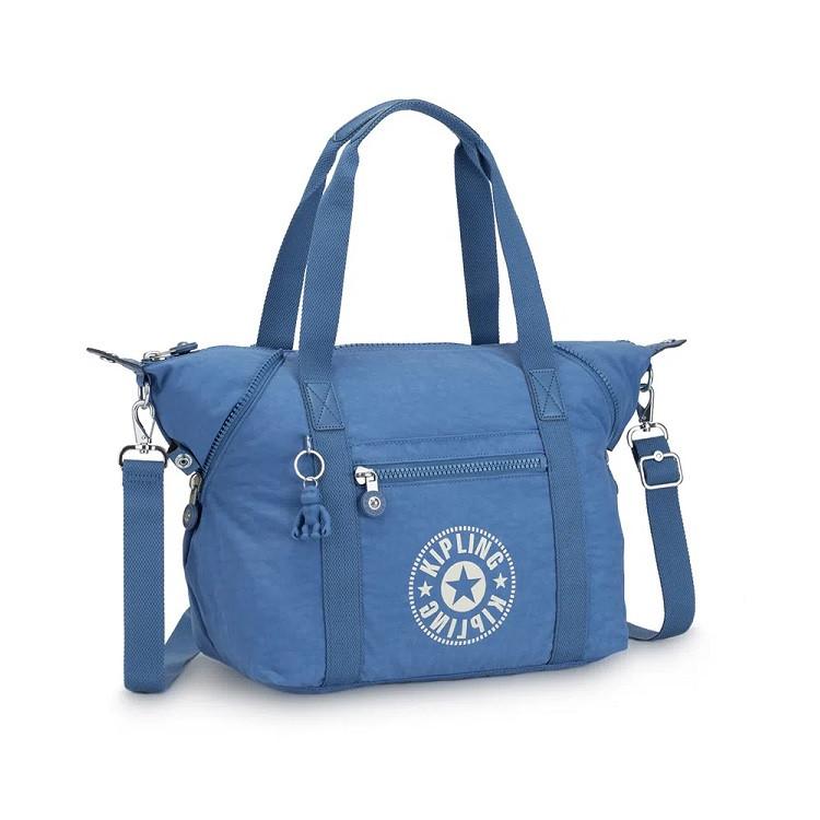 bolsa-de-mão-kipling-art-azul-claro