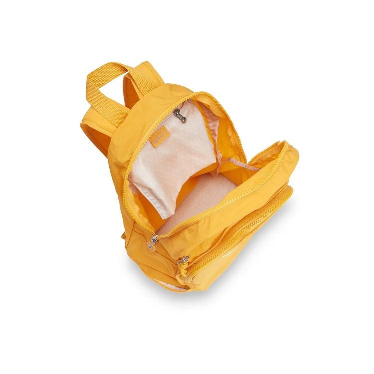 mochila-de-passeio-kipling-classic-niman-fold-amarela-detalhe-aberta