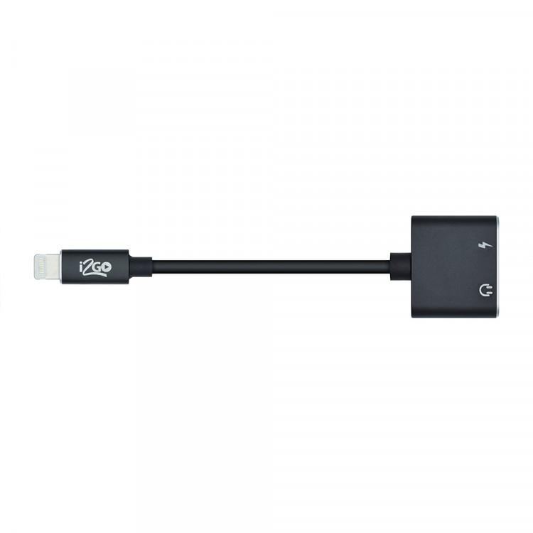 adaptador-i2go-lightning-2-em-1-preto-detalhe-extensão