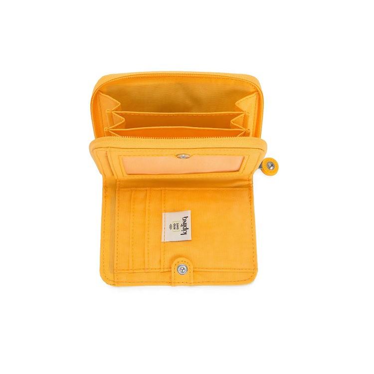 carteira-kipling-money-love-amarela-compartimentos