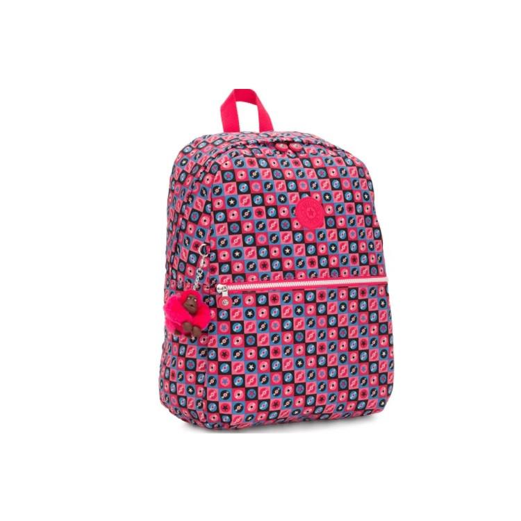 mochila-kipling-emery-rosa-detalhe-lateral