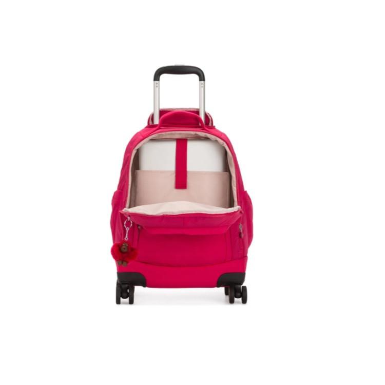 mochila-com-rodinhas-kipling-zea-pink-detalhe-compartimento-notebook