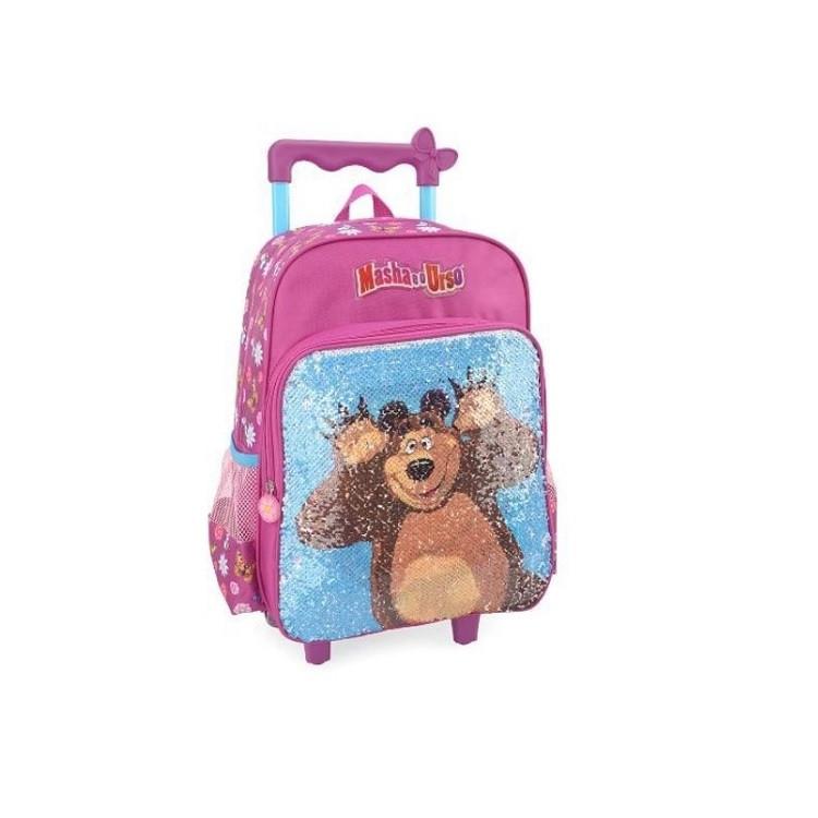 mochila-polo-king-masha-e-o-urso-com-rodas-rosa-detalhe-imagem-urso