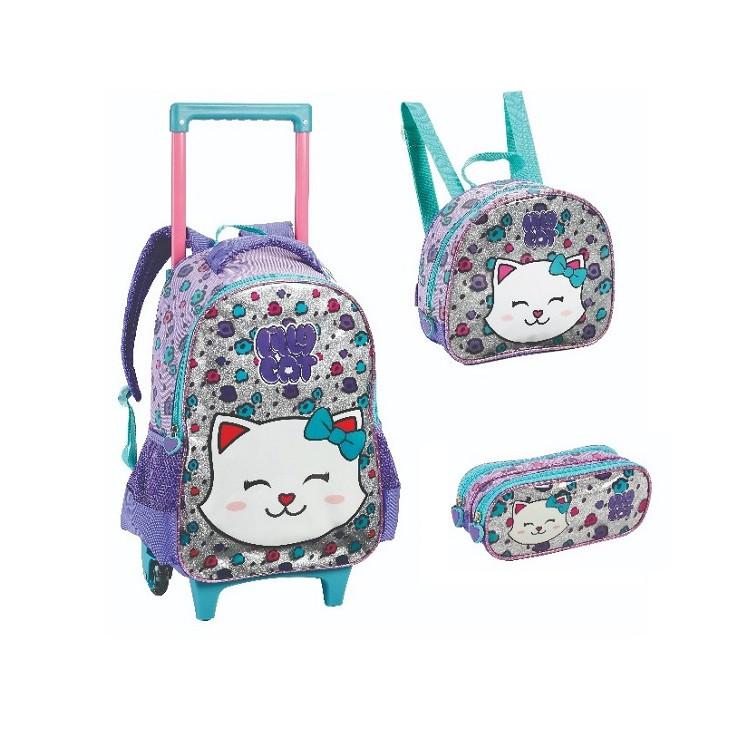 mochila-com-rodas-+-lancheira-+-estojo-lilly-cat-lilás