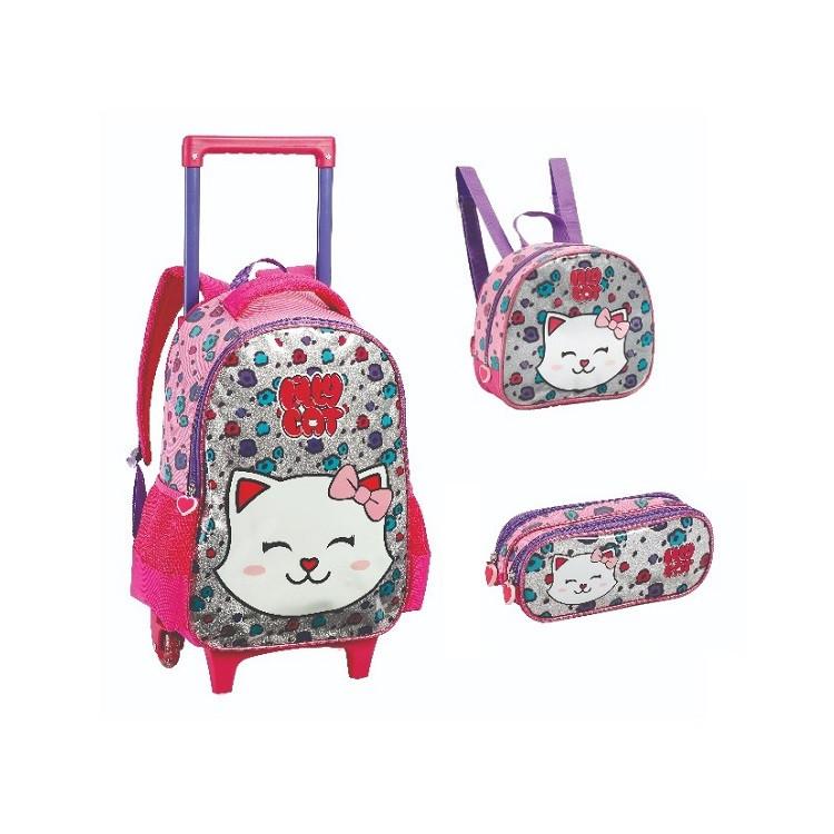 mochila-com-rodas-+-lancheira-+-estojo-lilly-cat-rosa
