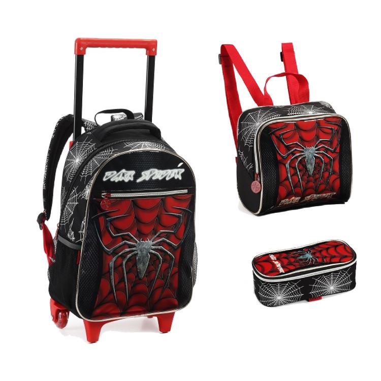 mochila-com-rodas-+-lancheira-+-estojo-homem-aranha-preto