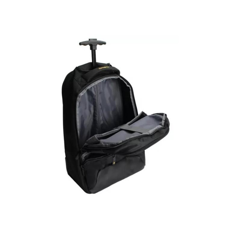mochila-samsonite-com-rodas-para-notebook-preta-e-amarela-aberta