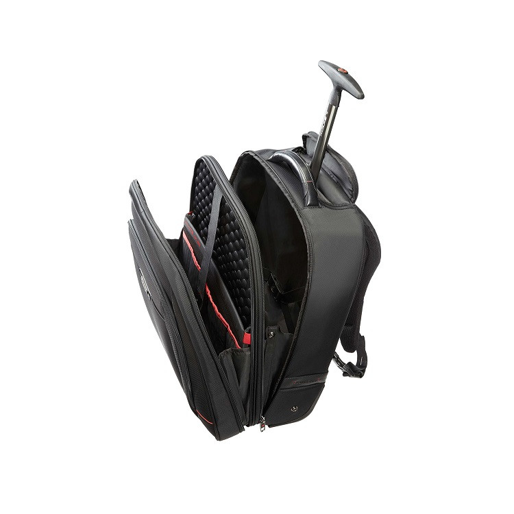 mochila-samsonite-para-notebook-business-pro-dlx-IIII-com-rodas-detalhe-compartimentos