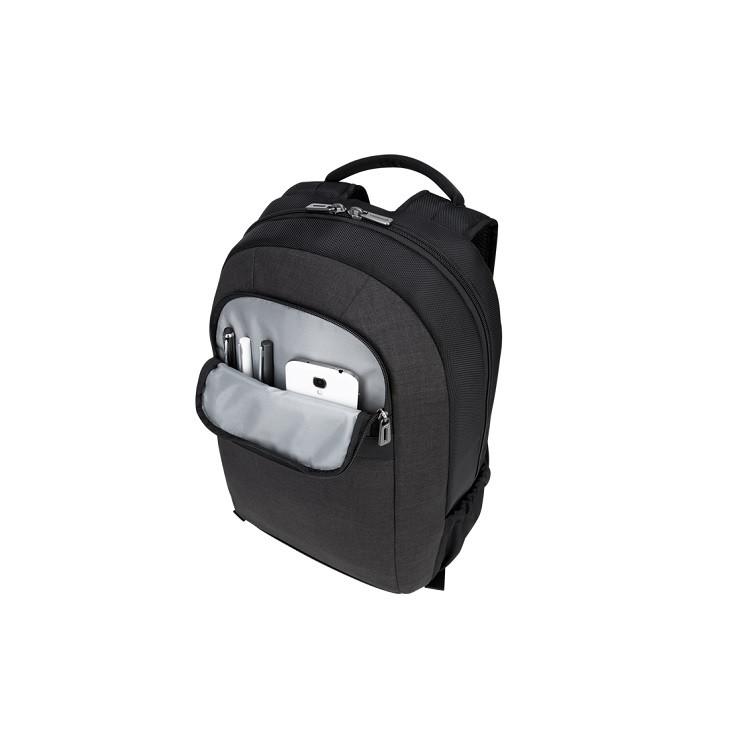 mochila-targus-city-smart-para-notebook-cinza-detalhe-bolso-frontal
