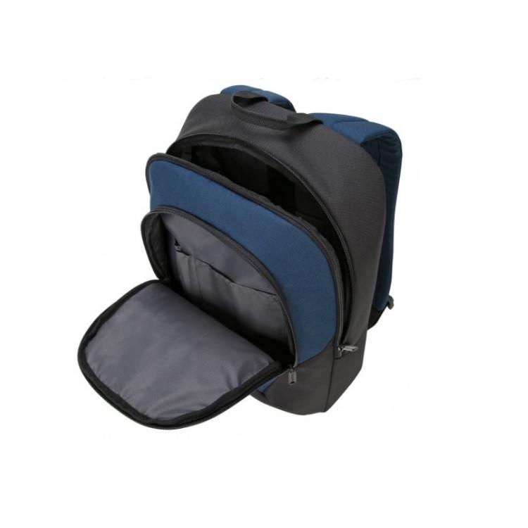 mochila-targus-essential-2-para-notebook-preta-e-azul-detalhe-aberta