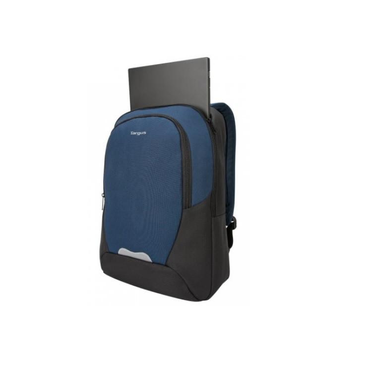 mochila-targus-essential-2-para-notebook-preta-e-azul-detalhe-compartimento-notebook