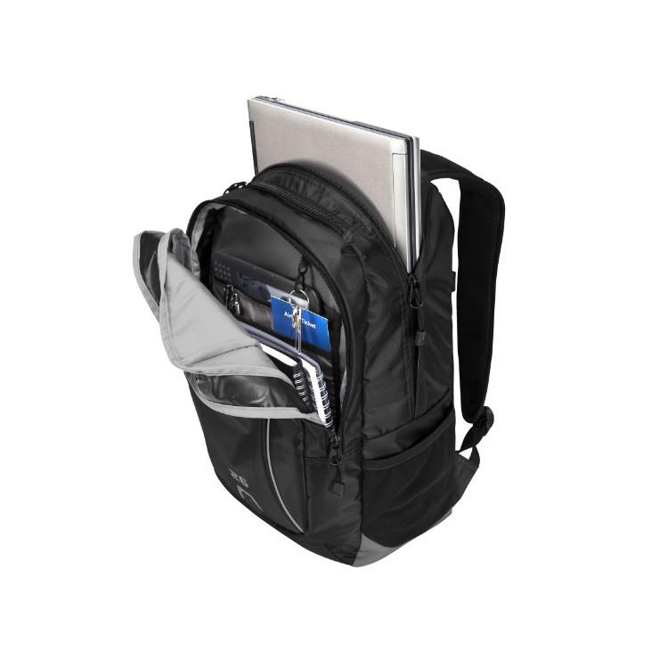 mochila-targus-sport-backpack-para-notebook-preta-detalhe-bolso-frontal-e-compartimento-notebook