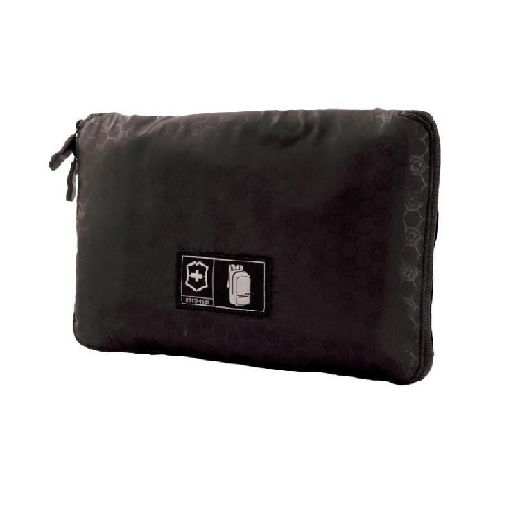 mochila-victorinox-packable-backpack-preta-detalhe-compacta