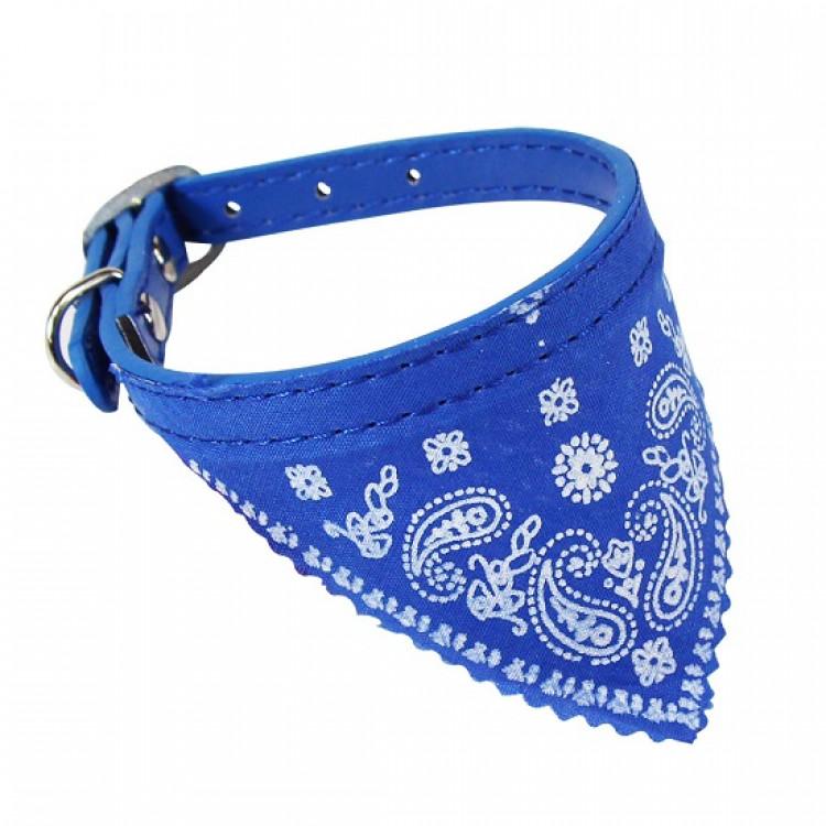 coleira-com-bandana-para-cães-45-x-2-cm-western-pet-azul